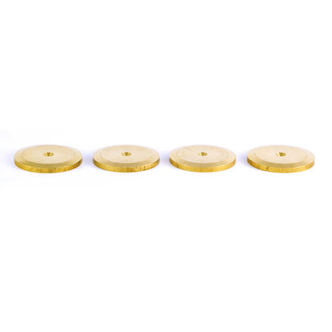 SOLID BRASS ISOLATING SPIKE PADS / SHOES - dogoodaudio - 1