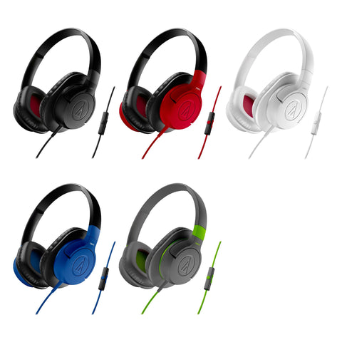 Audio Technica ATH AX1iS Sonic Fuel Headphones With Mic For Smart Phones / Black, Grey, Blue, Red, White - Do Good Audio