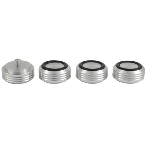 30mm HIGH GRADE RIBBED ALUMINIUM ISOLATING & DAMPING FEET FOR AUDIO EQUIPMENT - Do Good Audio