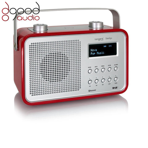 TANGENT DAB2GO BLUETOOTH DAB+ RADIO AND BLUETOOTH SPEAKER MUSIC SYSTEM - RED - dogoodaudio - 1