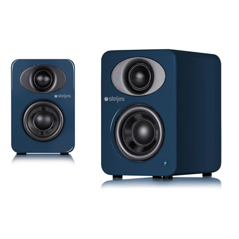 Steljes Audio - NS1 Powered Loudspeakers Artisan Blue - dogoodaudio - 1