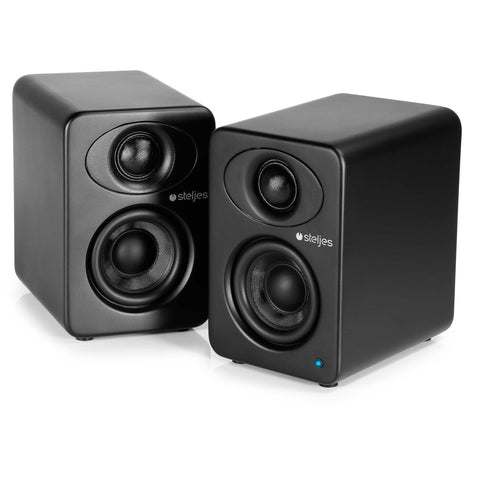Steljes Audio - NS1 Powered Loudspeakers Coal Black - dogoodaudio