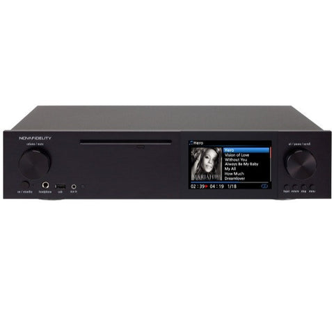 NOVAFIDELITY - X30 -  HOME ENTERTAINMENT - NETWORK MUSIC STREAMING SYSTEM Black - Do Good Audio