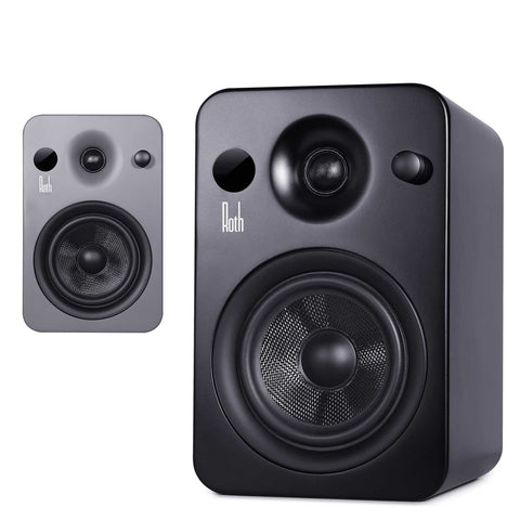 ROTH AUDIO POWA-5 MKII APT-X BLUETOOTH ACTIVE STEREO MONITOR SPEAKERS - BLACK OR GREY - dogoodaudio - 1
