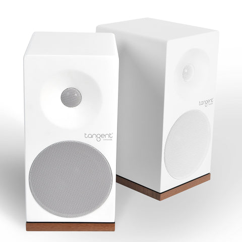 TANGENT SPECTRUM X5 STEREO SPEAKERS WHITE AND WALNUT - dogoodaudio - 1