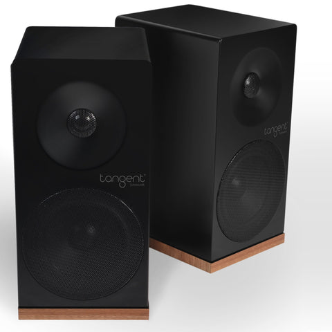 TANGENT SPECTRUM X4 STEREO SPEAKERS BLACK FINISH BLACK AND WALNUT - dogoodaudio - 1