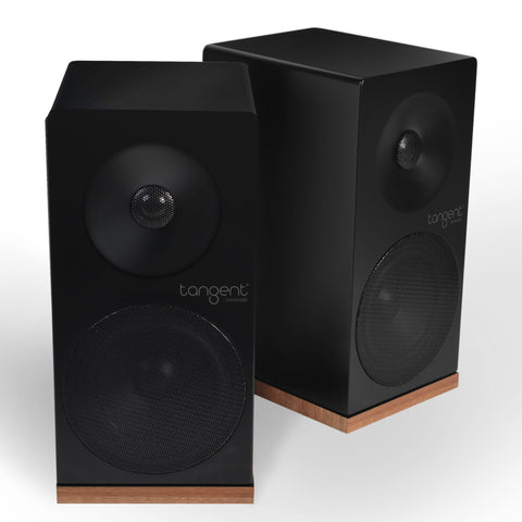TANGENT SPECTRUM X5 STEREO SPEAKERS BLACK FINISH BLACK AND WALNUT - dogoodaudio - 1