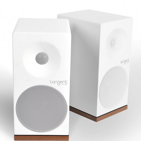 TANGENT SPECTRUM X4 STEREO SPEAKERS WHITE FINISH HI-FI CHOICE / WHITE AND WALNUT - dogoodaudio - 1