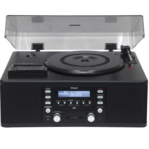 TEAC - LPR 500 TURNTABLE, CD,CASSETTE, INTEGRATED SYSTEM BLACK - dogoodaudio - 1