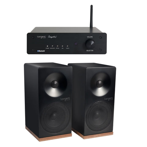 Tangent Bluetooth Hi-Fi System Package Ampster Bluetooth Amplifier X4 Speakers BLACK - dogoodaudio - 1