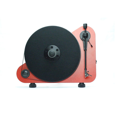 PRO-JECT - VTE VERTICAL BELT DRIVE TURNTABLE - RED - dogoodaudio - 1