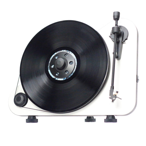 PRO-JECT - VTE VERTICAL BELT DRIVE TURNTABLE - WHITE - dogoodaudio - 1