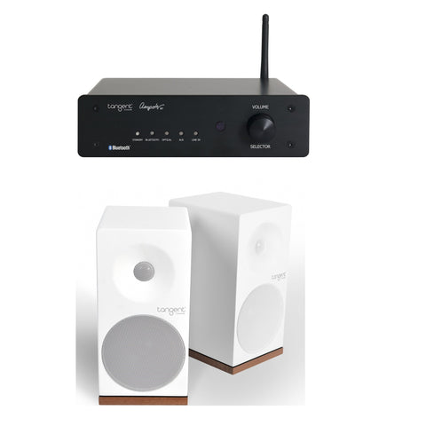 Tangent Bluetooth Hi-Fi System Package Ampster Bluetooth Amplifier X4 Speakers WHITE - dogoodaudio - 1