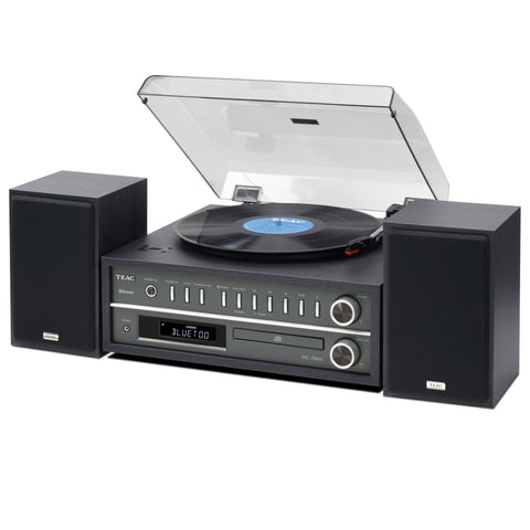 TEAC MC-D800 TURNTABLE HI-FI SYSTEM WITH BLUETOOTH - BLACK - dogoodaudio - 1