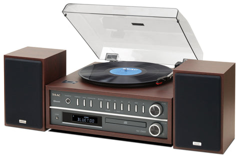TEAC MC-D800 TURNTABLE HI-FI SYSTEM WITH BLUETOOTH - BROWN - dogoodaudio - 1