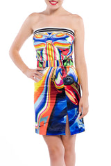 FYODOR GOLAN Speed Print Corset Dress