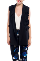 J JS LEE Crepe Bird Vest