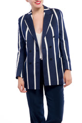 E TAUTZ Striped Mohair Jacket