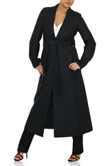 Womens D.B Military Coat Boiled Wool- Anthracite