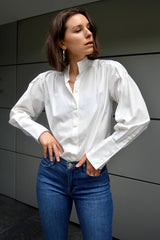 FRAME - Pleated Clean Collar Blouse