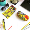 Yellow Tulip Medium Hard Sunglasses Case with Pouch & Cloth  (AS113)