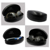 Hard Black Sunglasses Case w/ Pouch for Large - Ex Large Frames (AS179 + D2)