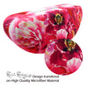 Rachel Rowberry Large Sunglasses case w/ Pouch & Cloth (AS179 Peonies)
