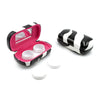 Hard Contact Lenses Case with Stylish Holder & Mirror | PACK OF 3 cases (Model AS411 Zebra)
