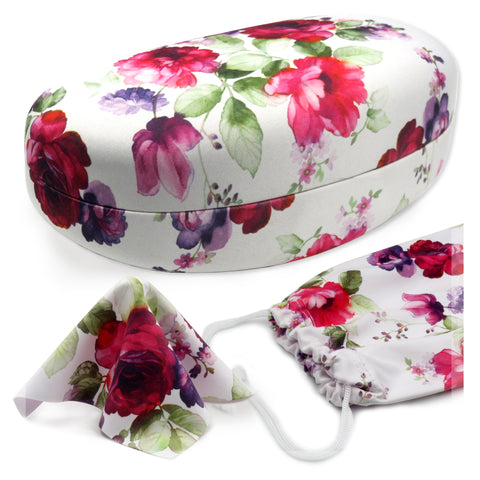 Hard Sunglasses Case, Medium & Large Frames (AS413 Cranberry Rose)