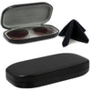 Eyeglass Sun Clip on's- Ultrathin Slim for Men & Women w/ Cleaning cloth (Model AS510 Blk)