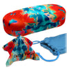 Hard Sunglasses Case in a Tie Dye Orange Blue With Pouch & Cloth (AS87 TD ORG)