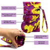 Tie Dye Wristlet Soft Sunglasses Case, Eyeglass Pouch, Phone Case (TD Purple)