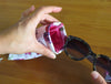 Floral Sunglasses Pouch,  Soft Eyeglass Case, By Rachel Rowberry (CT8 Cranberry Rose)
