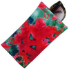Soft Sunglasses case in Tie Dye Pattern, Eyeglass Pouch w/ Cloth,  (CT8 TD Pink Green)