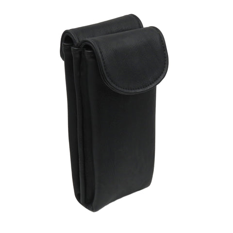 Double Eyeglass Case, Reading glasses Case, Semi Soft pouch ( #IP836 Black)