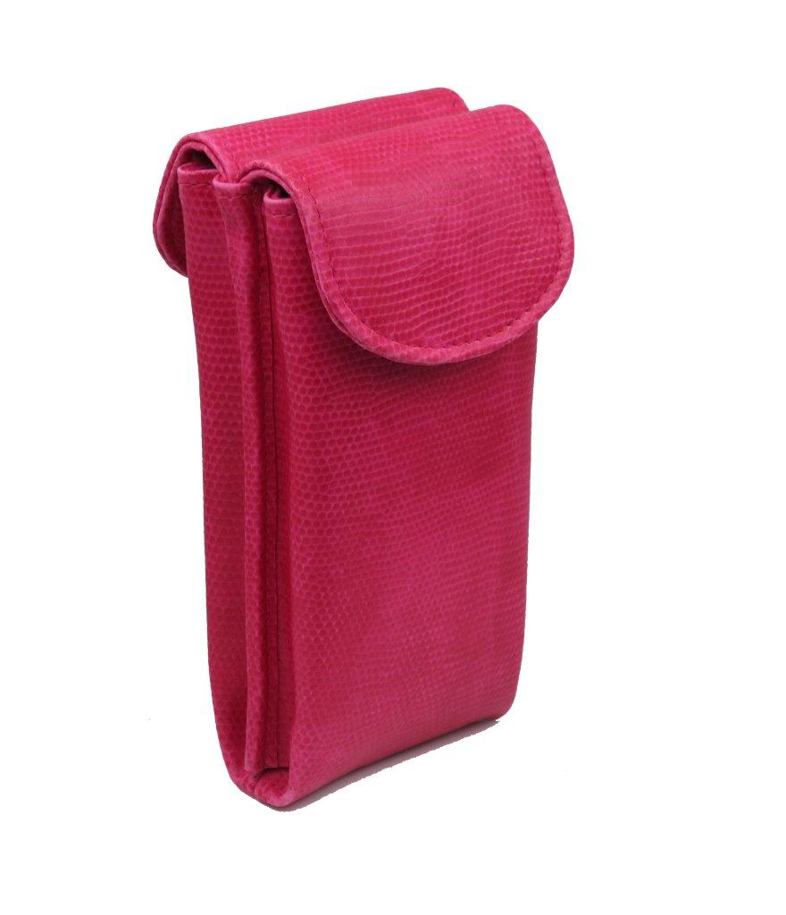 Double Eyeglass Case for 2 medium frames Semi Soft glasses pouch with magnetic closure /& 2 cleaning cloths