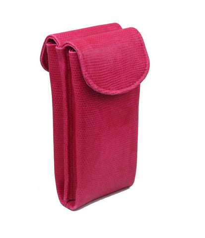 Double Eyeglass Case, Reading glasses Case, Semi Soft pouch (Model #IP836 Pink)