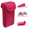 Double Eyeglass Case, Reading glasses Case, Semi Soft pouch (IP836 Pink)