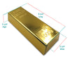 Gold Bar Bullion Replica for party decorations and Favor ideas, Jewelry storage, Glasses & Sunglasses Case