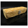 Elegant Rectangular designer Hard Eyeglass case medium frame (RC908 Gold)