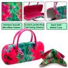 Eyeglass case w/Handle in a Tie Dye Print, Mini Accessories Case (AS12TG Pink / Green)