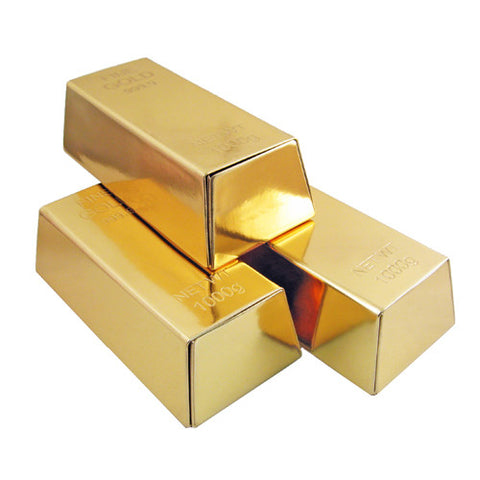 Gold Bar Bullion Replica for party favored & decorations, Jewelry storage, Glasses & Sunglasses Case