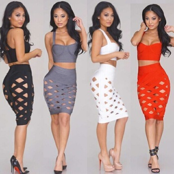 2 Piece Bodycon Dress (Available in 5 colors)