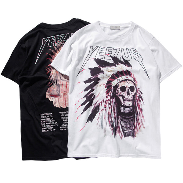indian chief yeezus T shirt collection (4 Available colors)