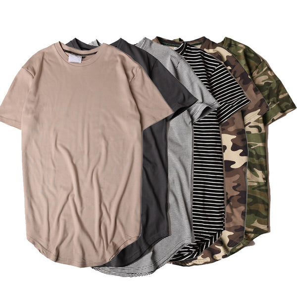 Curved hemmed Hipster T Shirt Collection (Available 5 Colors)