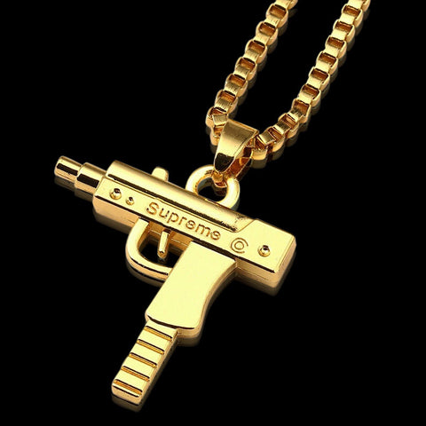 18K Supreme Uzi Necklace