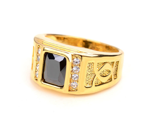 18K Onyx Diamond Ring