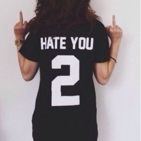 HATE YOU #2 WOMEN JERSEY T - Superior Apparel