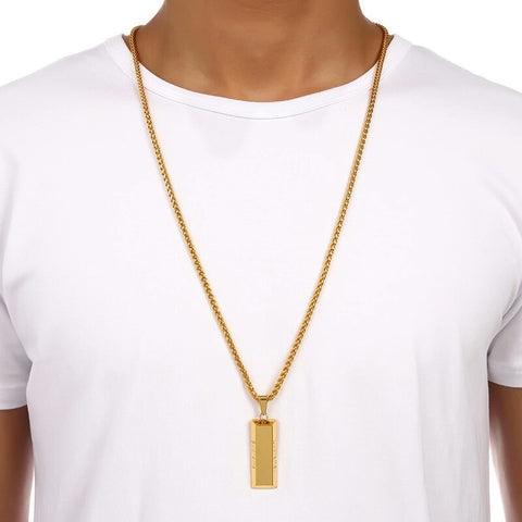 18K Supreme Gold Bar Chain