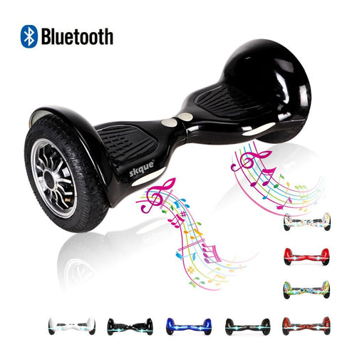 "Skque® 10"" Two Wheel Smart Self Balancing Electric Scooter with Bluetooth Speaker and LED Lights"